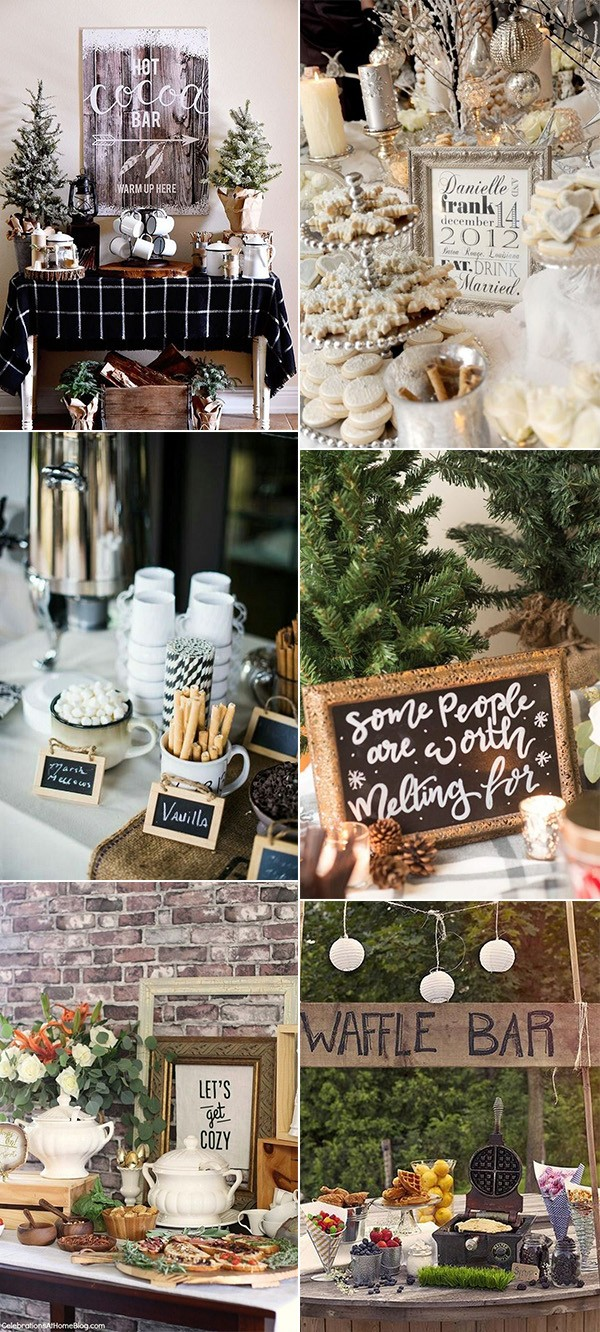 winter bridal shower bar ideas