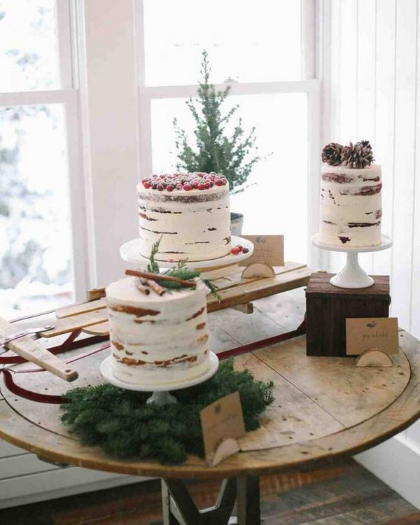 winter bridal shower cake ideas