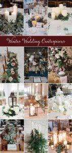 winter wedding centerpieces ideas for 2018 and 2019
