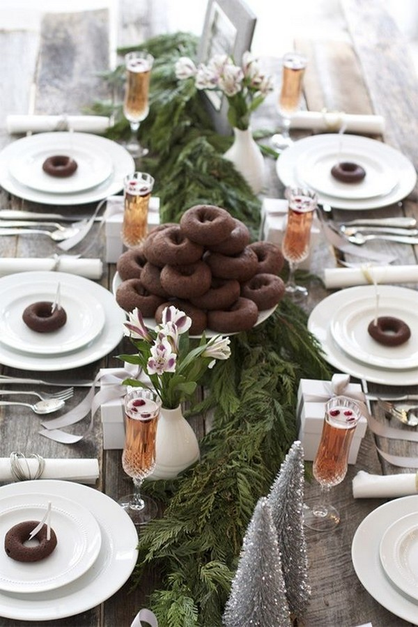 winter wonderland bridal shower table setting ideas