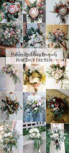2019 trending proteas wedding bouquet ideas