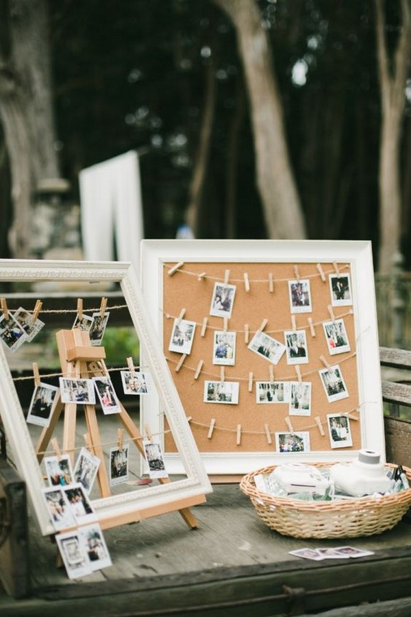 Polaroid Wedding Guest Book Sign