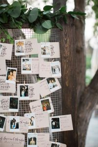 Polaroid wedding guest book ideas with notes
