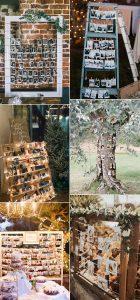 Polaroid wedding photo display decoration ideas