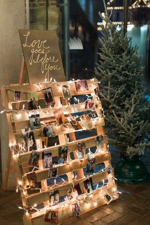 Polaroid wedding photo display ideas
