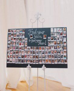 Polaroid wedding seating plan ideas