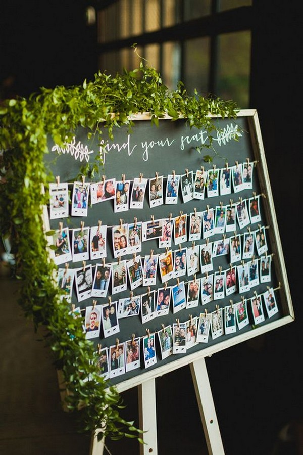 Wedding Polaroid Escort Cards