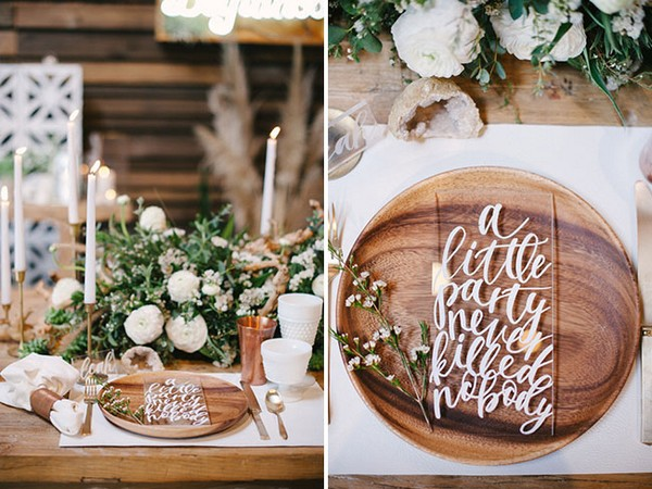 acrylic calligraphy wedding sign ideas