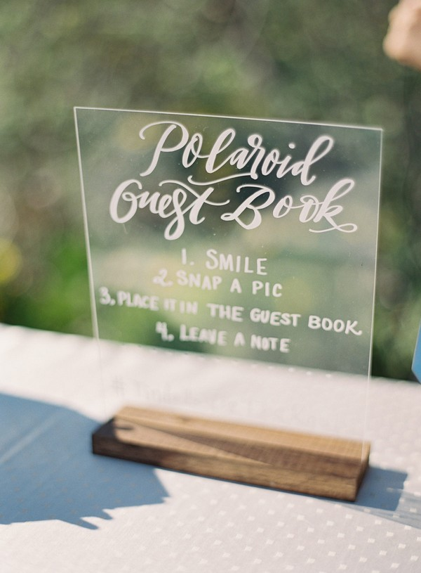 acrylic wedding sign ideas