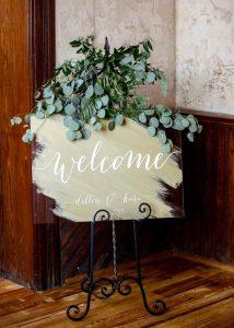 acrylic wedding welcome sign ideas