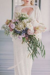 amazing wedding bouquet with king proteas for spring summer 2019