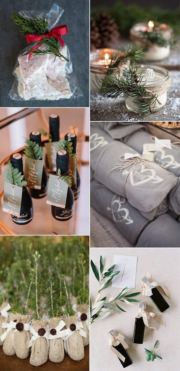 amazing winter wedding favor ideas
