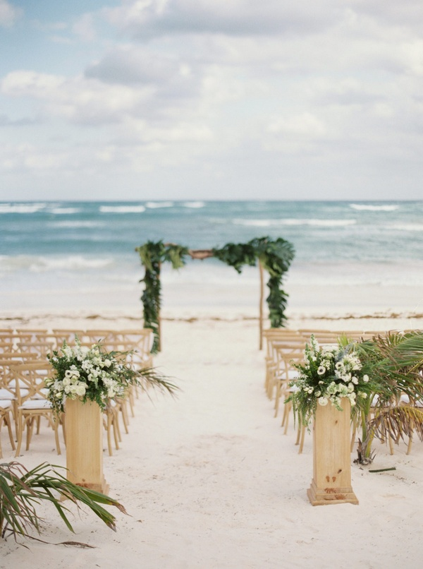 beach seaside wedding ceremony