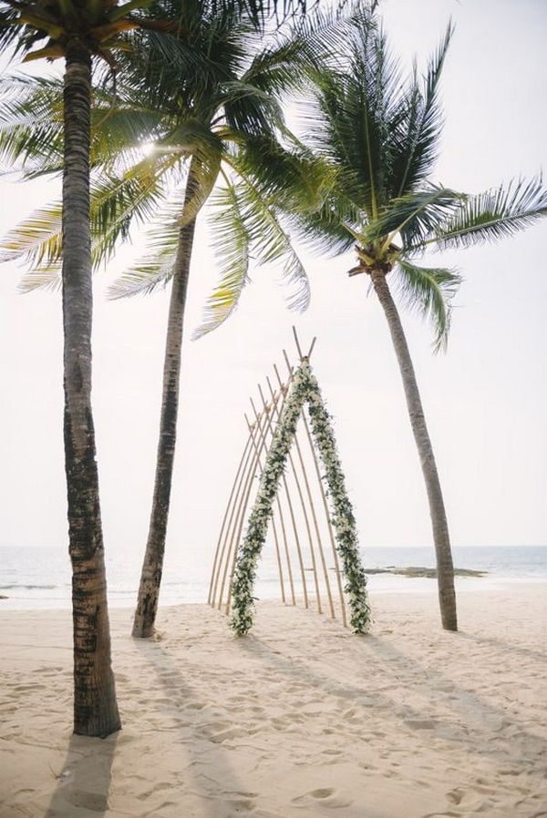 beach wedding ceremony arch ideas