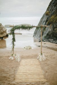 boho chic beach wedding aisle ideas