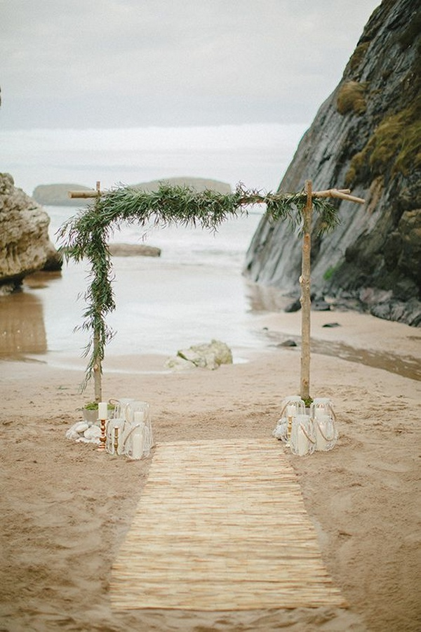 boho chic beach wedding aisle ideas