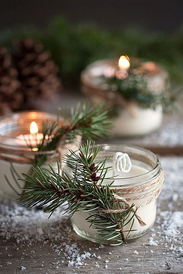 candles winter wedding favor ideas