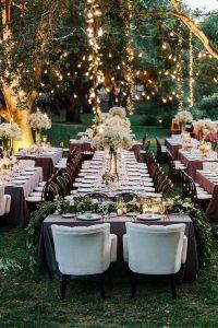 chic forest wedding reception decoration ideas