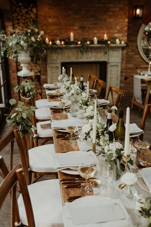 chic rustic wedding table decorations with candles