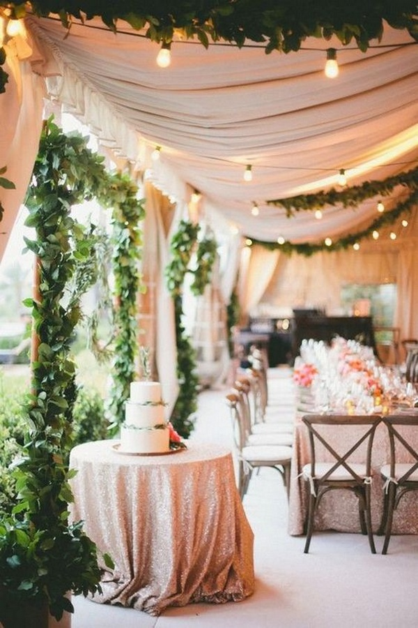 chic tented wedding reception ideas