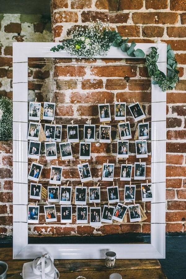 chic vintage wedding photo display ideas