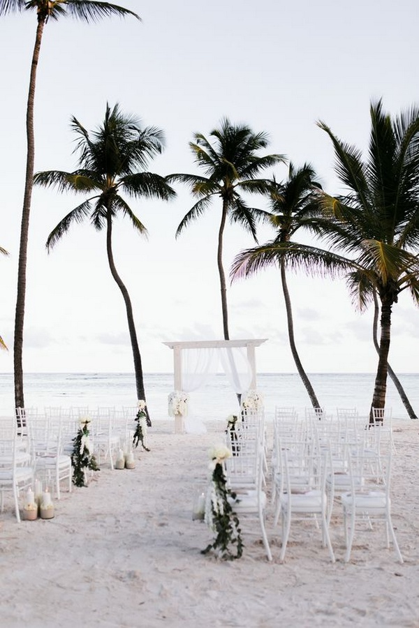 elegant beach wedding ceremony ideas
