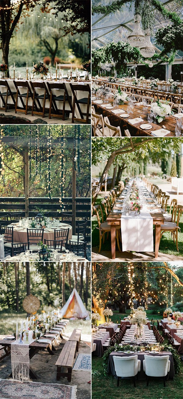 forest inspired wedding reception ideas for 2019
