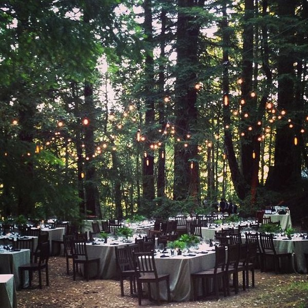 forest themed wedding reception ideas