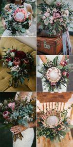 gorgeous proteas wedding bouquet ideas for 2019 trends