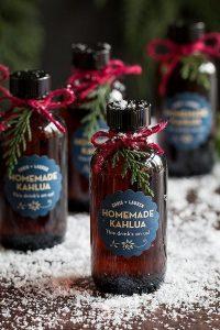homemade Kahlua winter wedding favor ideas