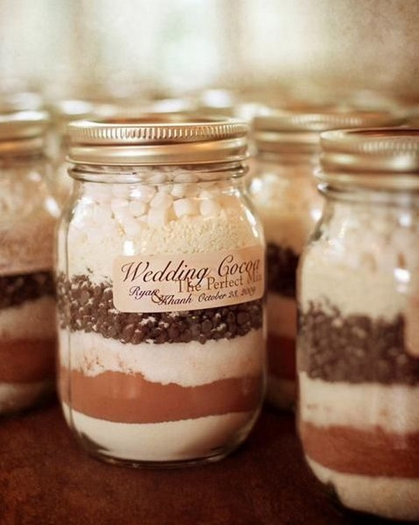 hot drink winter wedding favor ideas