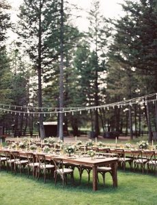 long table wedding reception ideas with lights