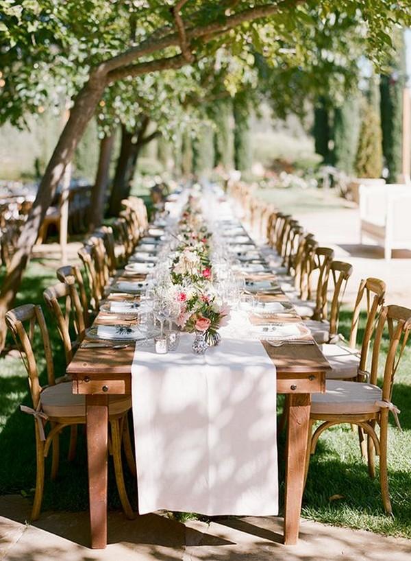 long table wedding reception ideas