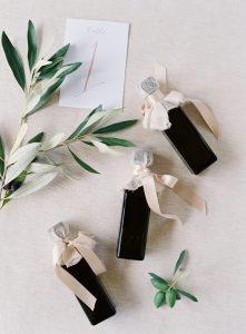 olive oil wedding favor ideas