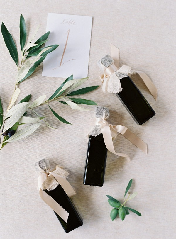 olive oil wedding favor ideas