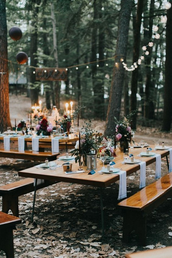 outdoor boho wedding reception ideas