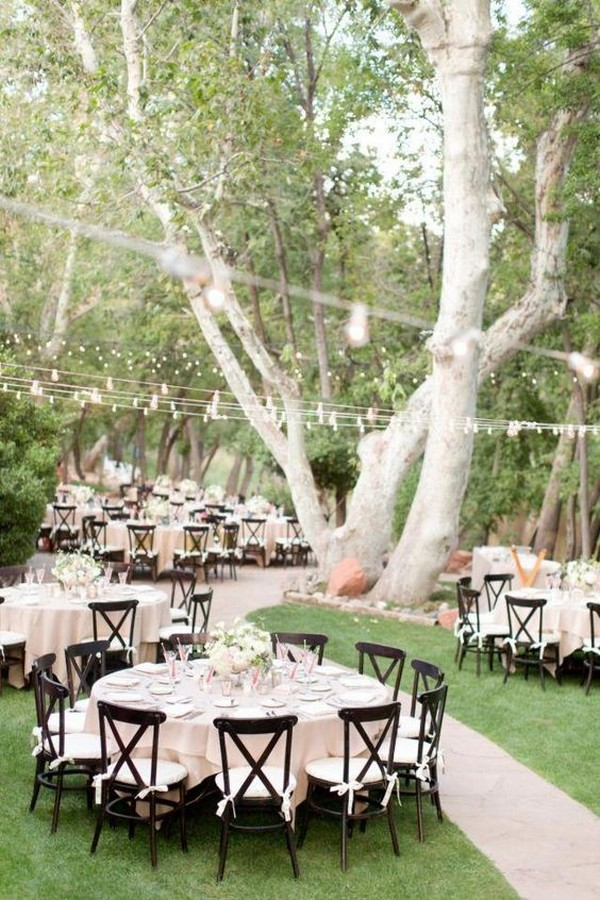 outdoor wedding reception ideas in the forest