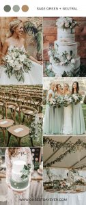 sage green and neutral wedding color ideas