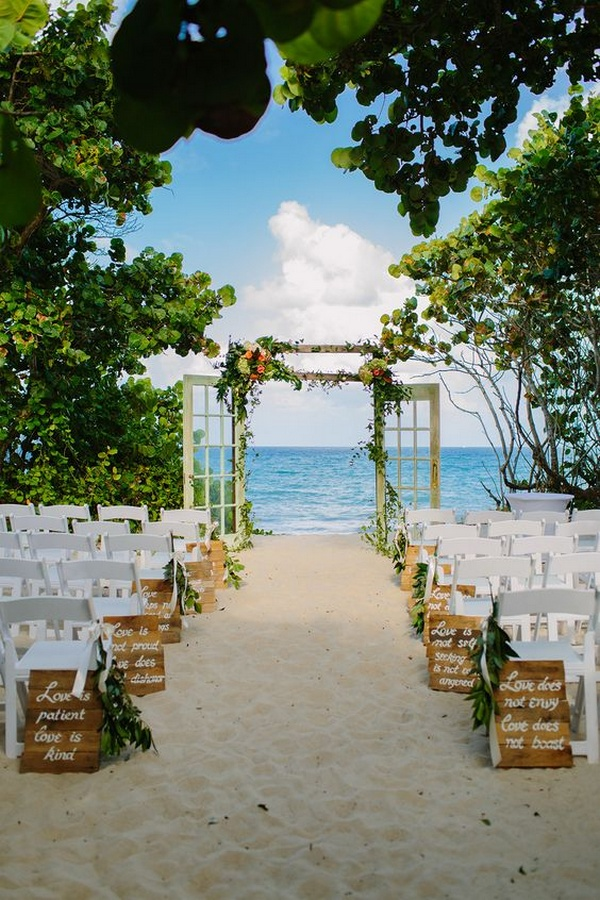 seaside beach wedding aisle ideas