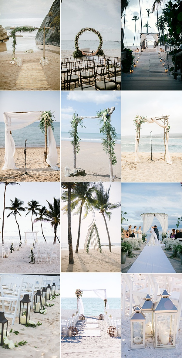 seaside beach wedding decoration ideas