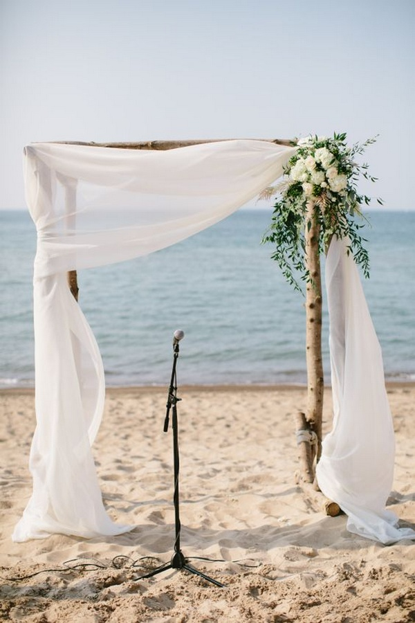 simple beach wedding arch decoration ideas