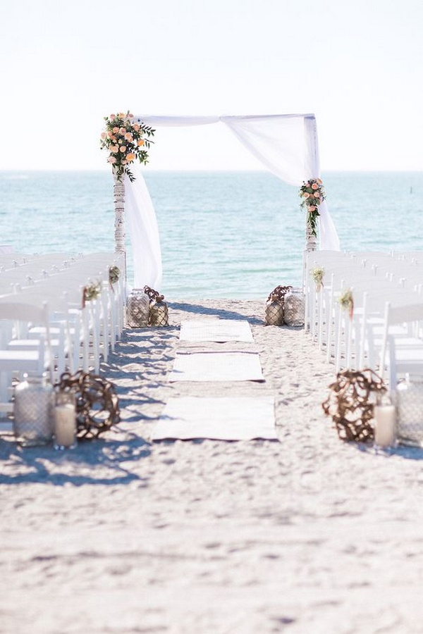 simple elegant beach wedding ceremony ideas