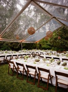 tented wedding reception ideas in the forest