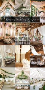 trending draping wedding reception ideas for 2019