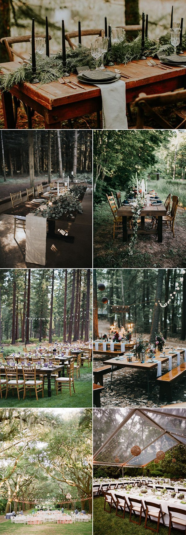 trending forest themed wedding reception ideas