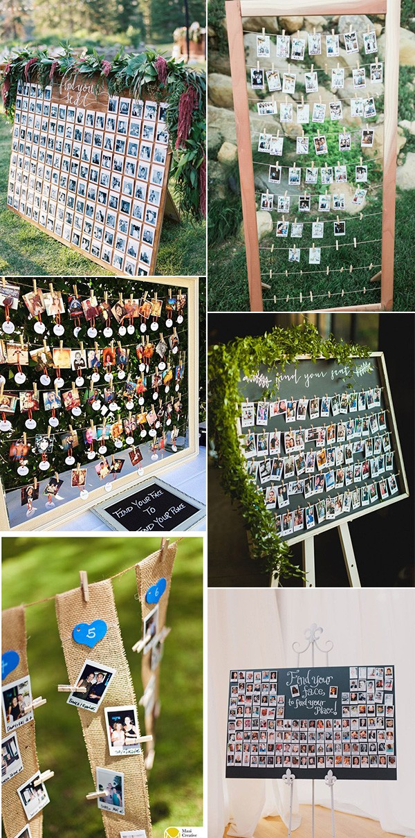 trending polaroid wedding seating plan ideas