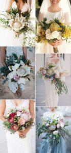 trending proteas wedding bouquet ideas