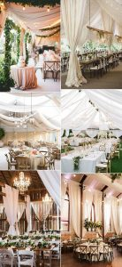 trending wedding reception ideas with fabric draping