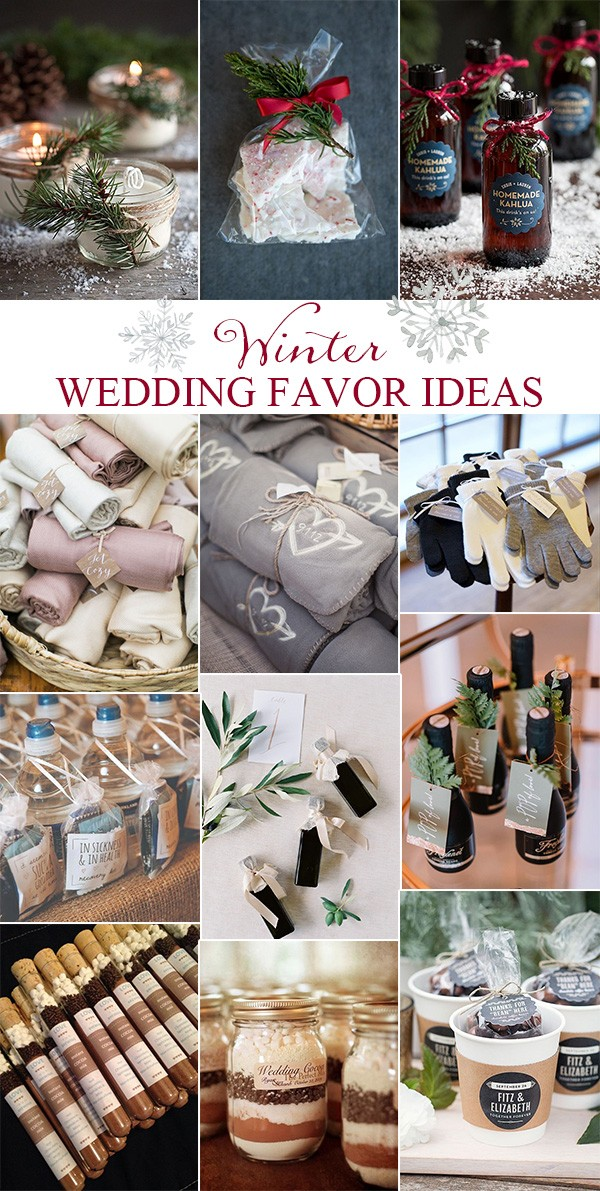 trending winter wedding favor ideas