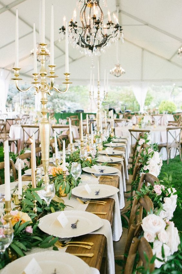 wedding centerpiece ideas with taper candles
